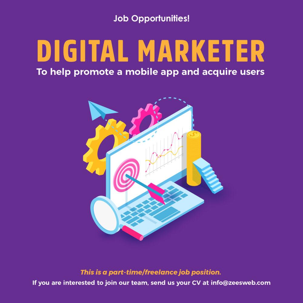 Digital Marketing Job position